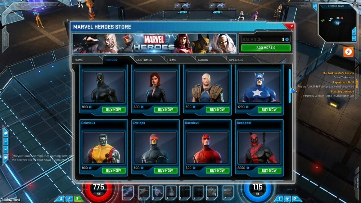 marvel browsergame
